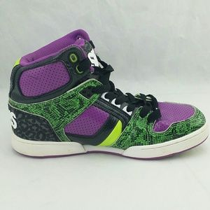 aecf8f943979 Osiris Shoes - Osiris Skateboard Shoes Joker Edition Green Purple